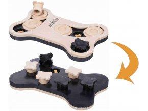 Dog Activity Game Bone 2v1 - oboustranná hračka pro pejsky se dvěma obtížnostmi