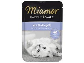 Miamor Cat Ragout Kitten hovězí v želé - kapsička 100 g