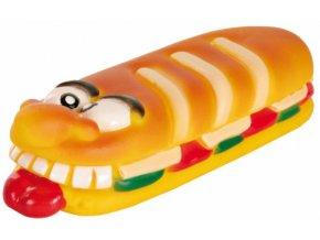 Divoký obložený sendvič vinyl 19 cm - hračka pro psy