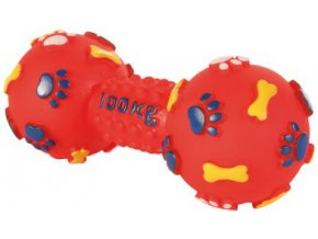Silácká činka 100 kg vinyl 15 cm - hračka pro psy