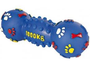 Silácká činka 1000 kg vinyl 25 cm - hračka pro psy