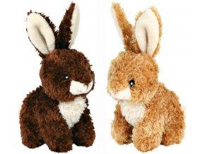 Plyšový králíček se zvukem 15 cm - hračka pro psy