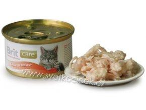 Brit Care Cat kuřecí prsa - konzerva pro kočky 80 g