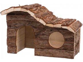 Dřevěný domeček pro myš nebo křečka Hanna