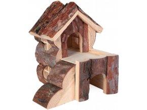 Dřevěný domeček pro myš nebo křečka Bjork