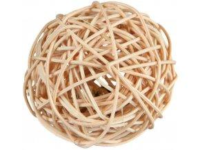 Proutěný míček s rolničkou 4 cm