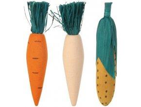 Dřevěná okusovací zelenina - 3 ks v balení
