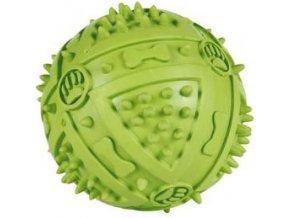 Míč s bodlinami a zvukem 9 cm - hračka pro psy