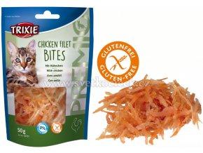 Trixie Premio kuřecí filetky 50 g - pamlsky pro kočky bez cukru a lepku