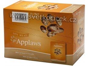 Applaws kuře a dýně MULTIPACK - kapsička 12x70 g