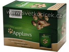 Applaws kuře a chřest MULTIPACK - kapsička 12x70 g