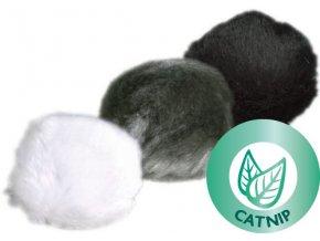 Plyšový míček s catnipem a rolničkou