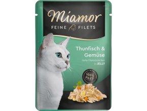Miamor feine filets tuňák a zelenina kapsička pro kočky
