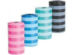 Sáčky na trus barevné proužkované 4x20 ks