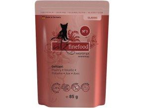 Catz Finefood 3 drůbeží maso - kapsička 85 g