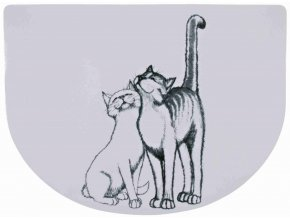 Prostírání kočky černo-bílé