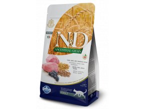 153 00 ND Ancestral feline 1,5kg Adult LAMB SPELT [3D Front+Right]