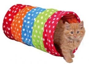 Tunel barevný flísový 25x50 cm