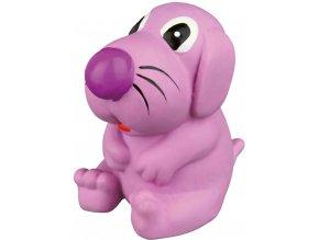 Latexový pejsek plněný 8 cm - hračka pro psy