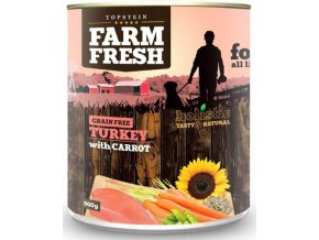 Farm Fresh krůta a mrkev - konzerva pro psy 800 g