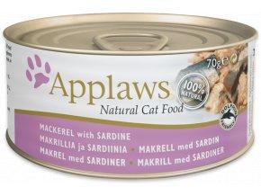 Applaws makrela a sardinky - konzerva 70 g