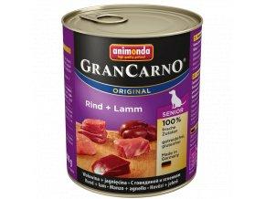 GranCarno Senior různé druhy - konzerva pro starší pejsky 800 g