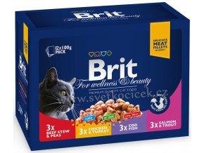 Brit Premium MULTIPACK Family Plate - kapsička 12x100 g
