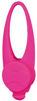 Blikací svítítko na obojek silikonové Barva: růžová