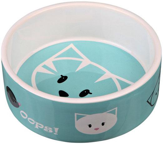 Keramická miska pro kočky MIMI 300 ml Barva: modrá