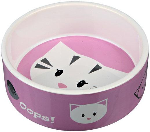 Keramická miska pro kočky MIMI 300 ml Barva: růžová