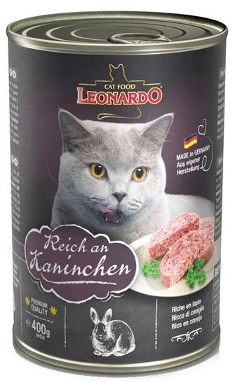 Leonardo králík - konzerva pro kočky 400 g