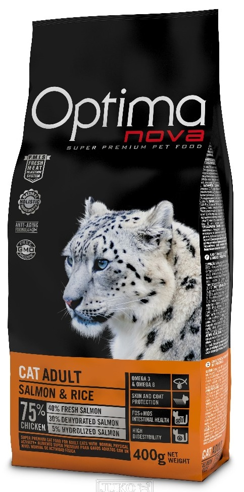 Optima Nova Cat Adult Salmon 8 kg