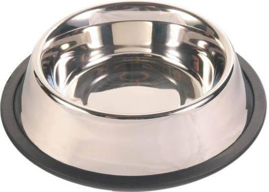 Miska nerez s gumou pro psy a kočky 14 cm, 0,45 l