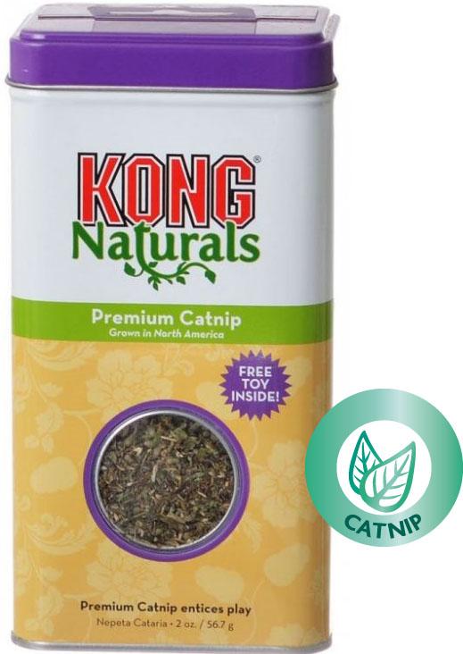 Kong Premium catnip (šanta kočičí) sušené byliny 56,7 g + hračka