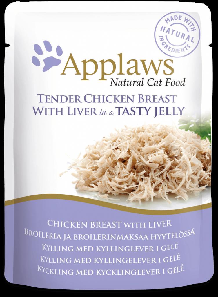 Applaws Jelly kuřecí prsa a játra - kapsička 70 g