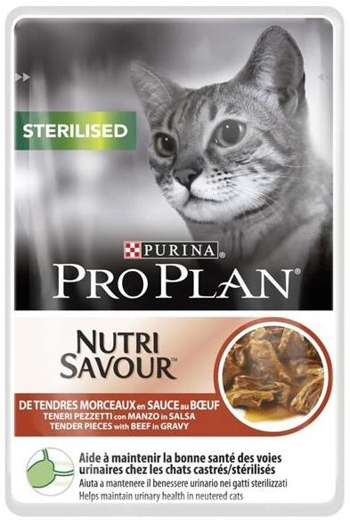 Pro Plan Sterilised Beef - kapsička pro kočky 85 g