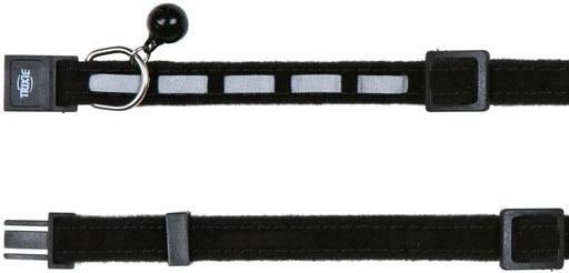 Trixie obojek pro kočku reflexní, sametový 22-36 cm Barva: černá