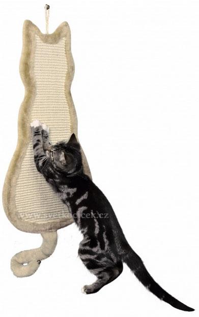 Škrabadlo kočka béžové