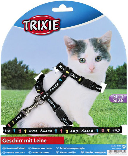 Trixie Nylonový postroj pro koťata 21-34cm/8mm Barva: černá