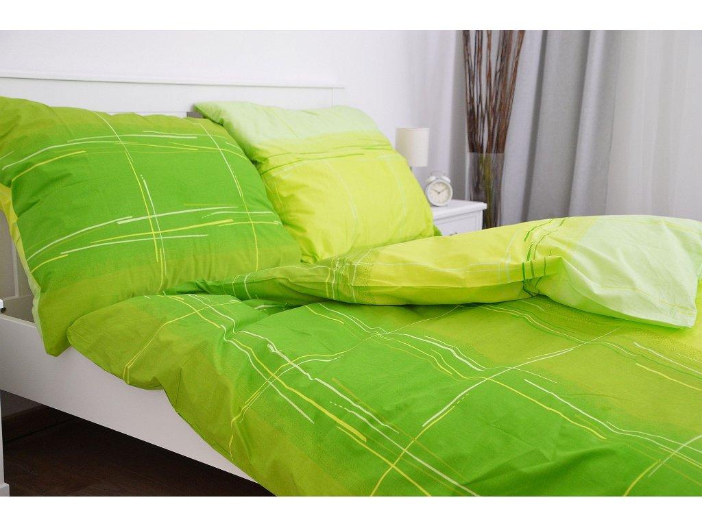 Bavlnený poťah na vankúš 70x90 - Cákance zelené
