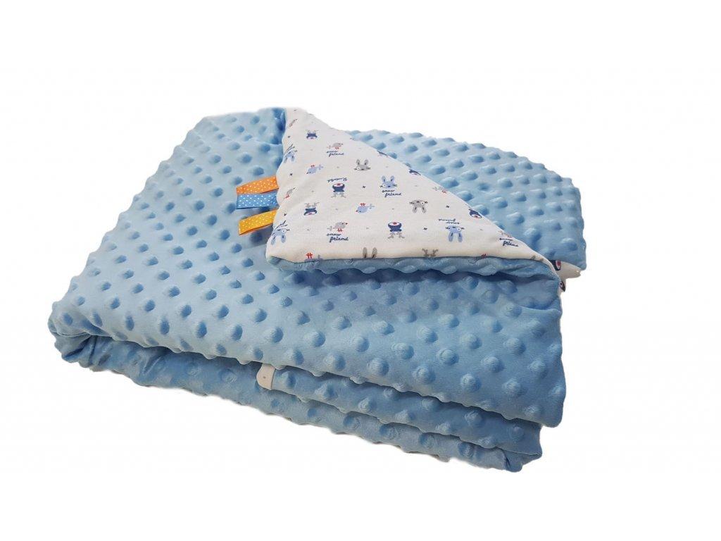 Detská deka MINKY - svetle modrá