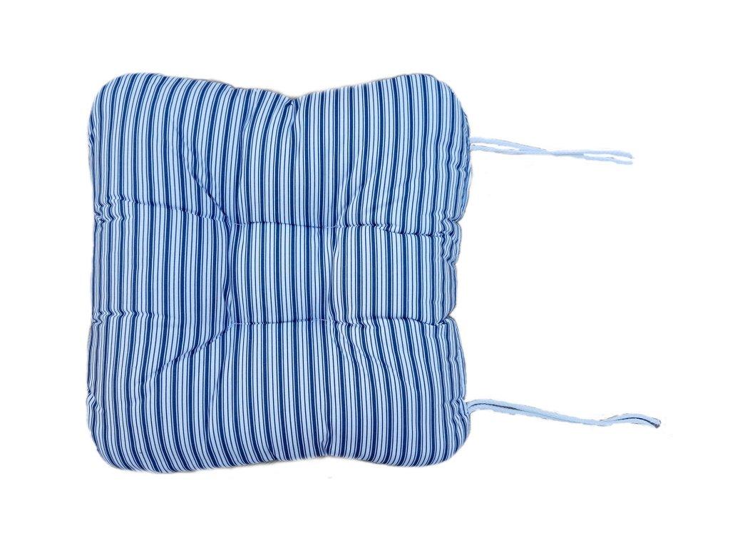 Vankúš na kreslo - Pruhy modré
