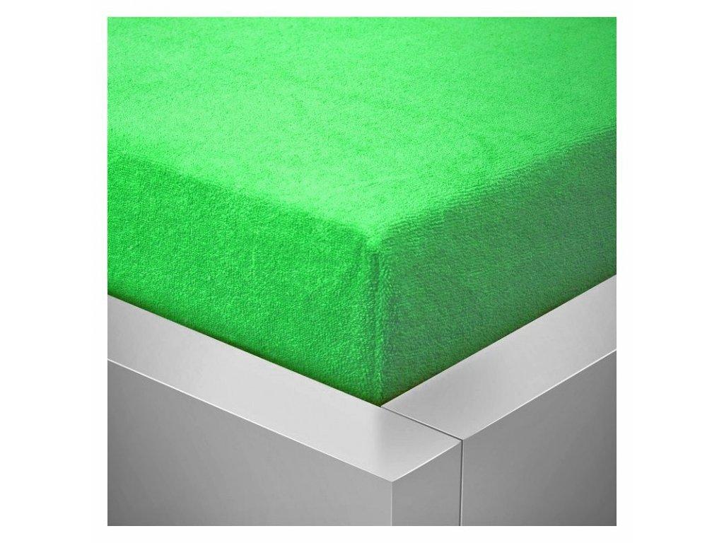 Froté plachta 90x200 /25cm - jarná zelená