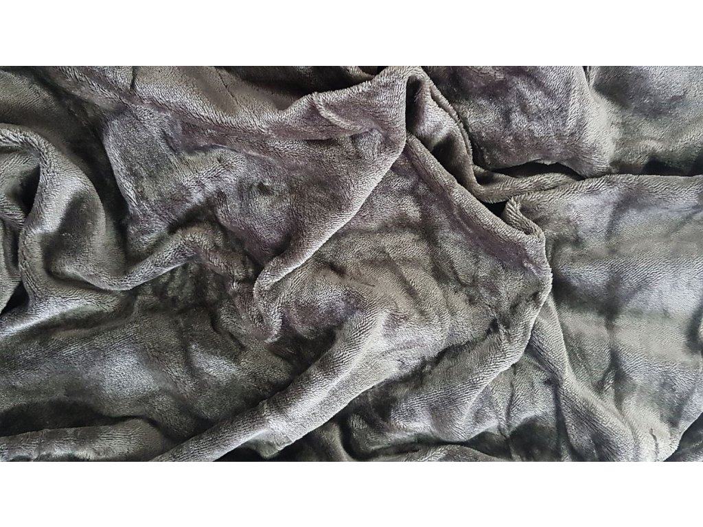 Mikroplyšová plachta 180x200 - tmavo sivá