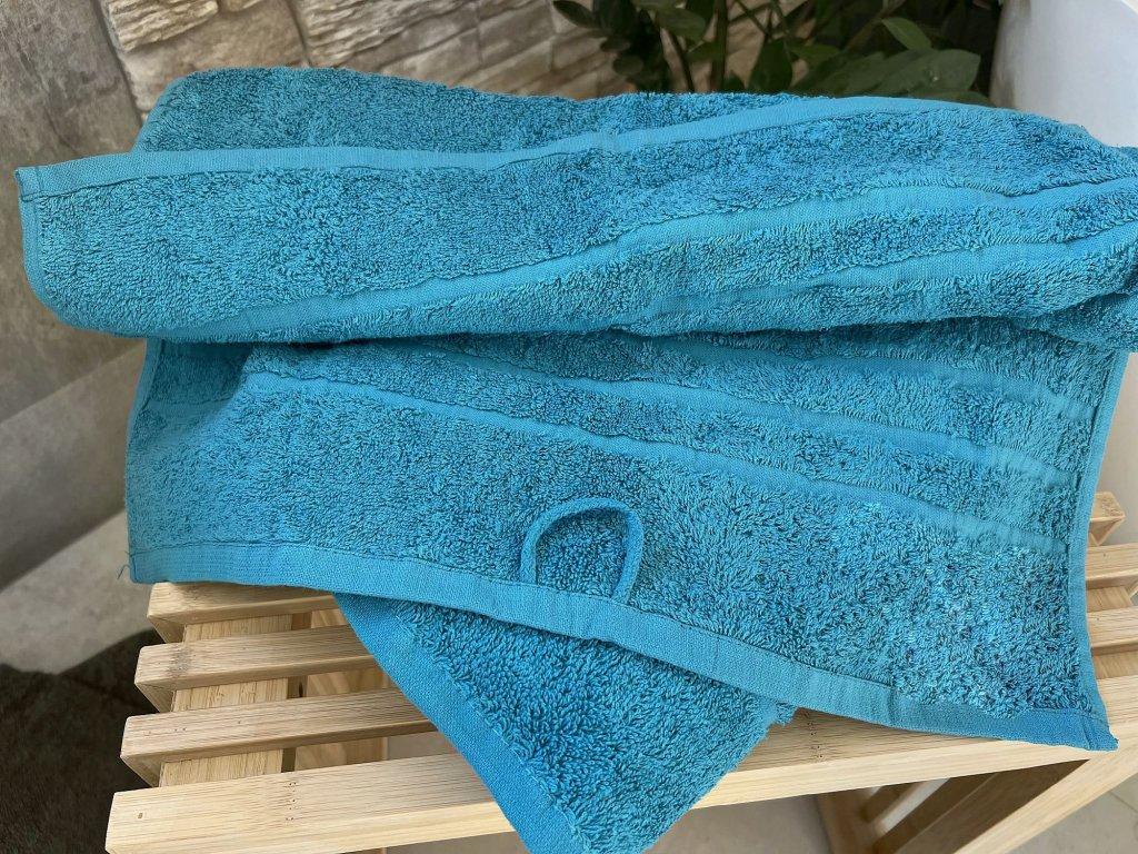 Froté uterák HOTEL 500g - Azurovo modrý 50x100