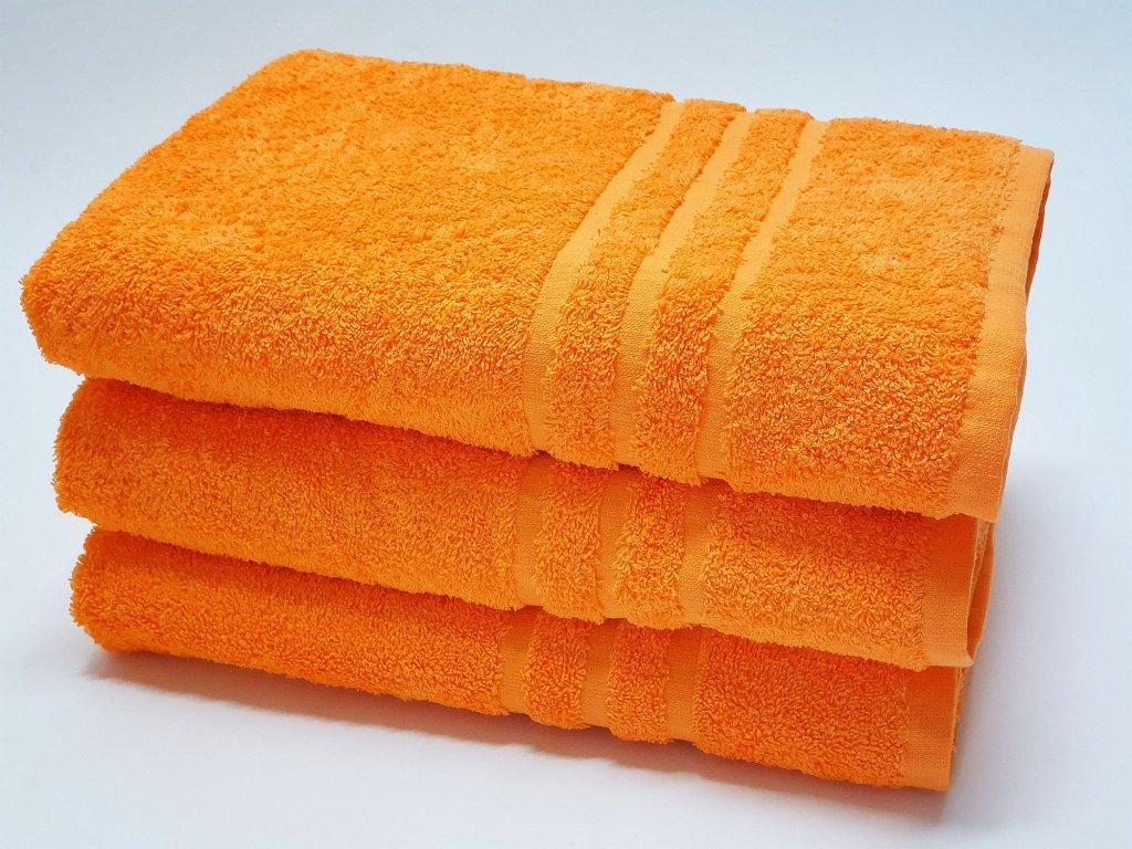 Froté uterák 30x50 - oranžový