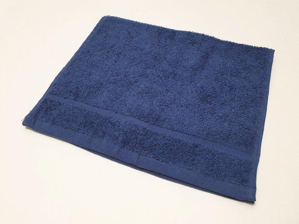 ručník30x50tm.modrý