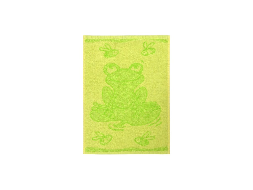 Detsky rucnik Frog green 30 x 50 cm