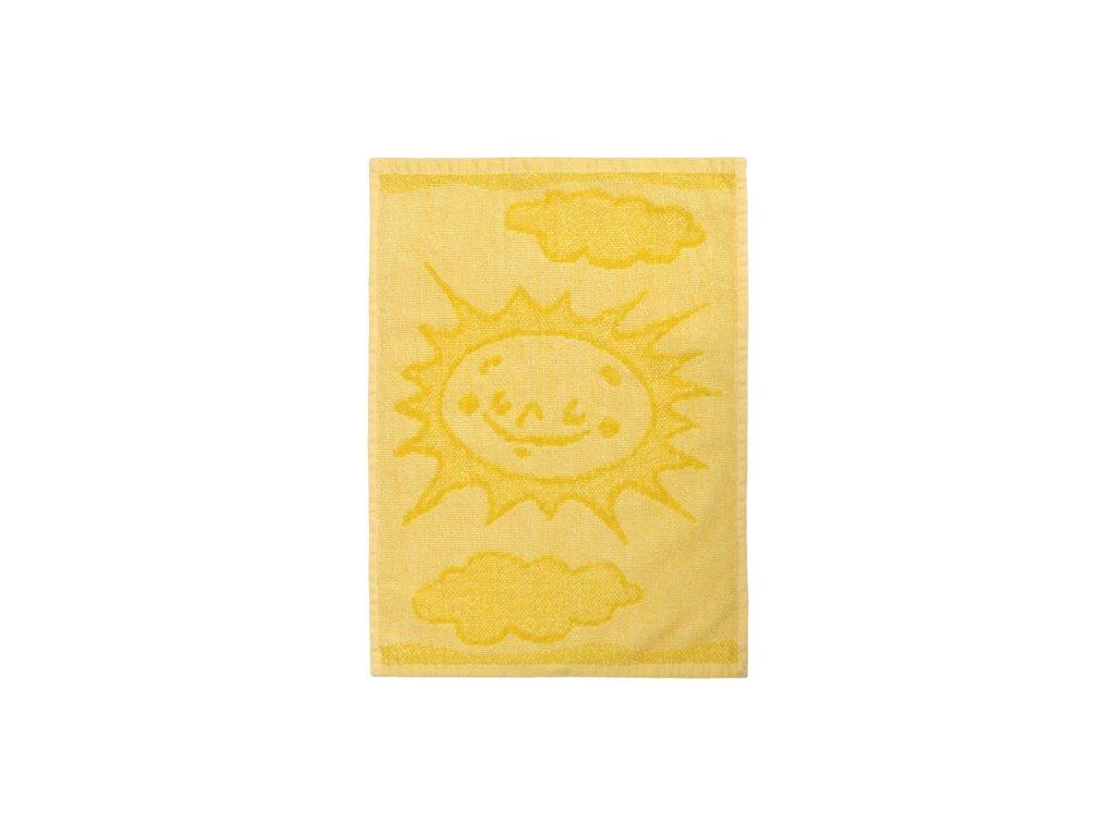 Detsky rucnik Sun yellow 30 x 50 cm