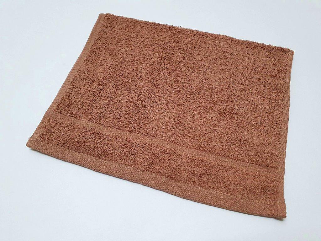 ručník30x50hnědý